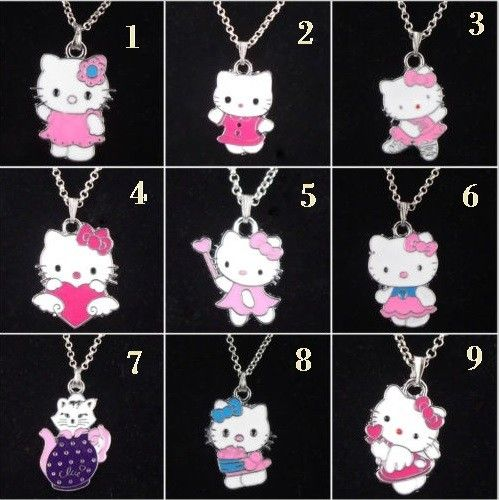 Super cute Hello Kitty necklaces via Freaks4fashion Online Store. Click on the image to see more!