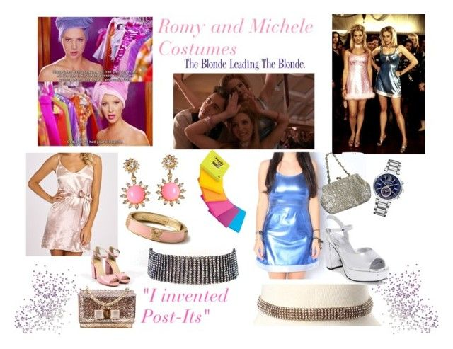"""""""Romy and Michele Costume"""" by amritasinghjewelry ❤ liked on Polyvore featuring Amrita Singh, Michael Kors, Rachel Comey, Steve Madden, Salvatore Ferragamo and Valentino"""