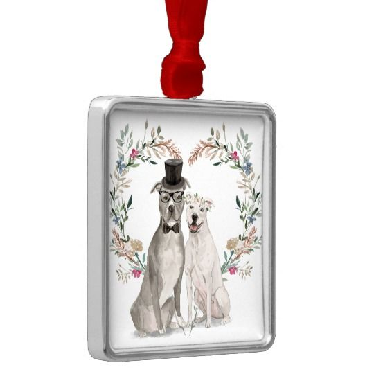 Wedding Pups Ornament