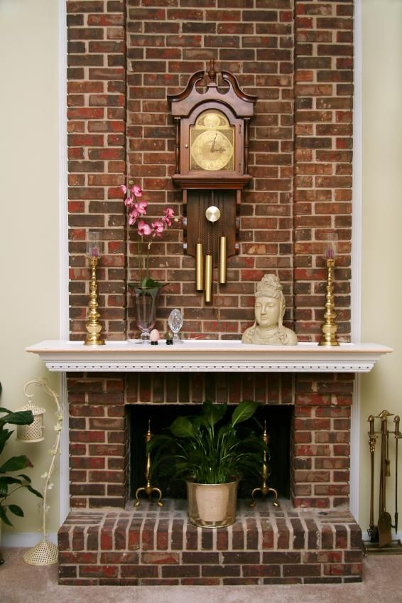 eclectic fireplace