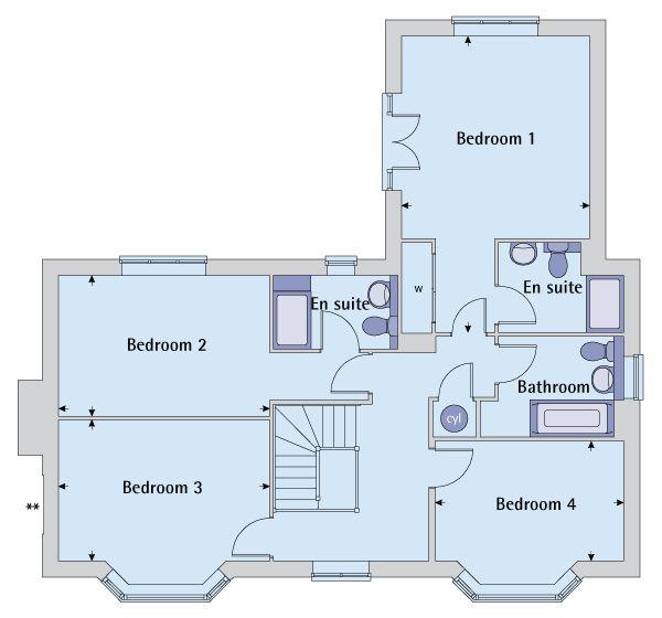 9 best Bovis Homes the Evesham Stratford leys images on – Bovis Homes Floor Plans
