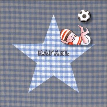 Geboortekaartje voetbal jongen