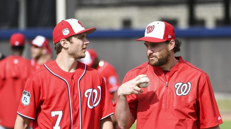 """Trea Turner and Daniel Murphy might share the top of the order early in the season. (Jonathan Newton/The Washington Post)     WEST PALM BEACH, Fla. — After """"Who is your closer?"""" the question asked most often of Dusty Baker this spring has been about his lineup. The addition of Adam Eaton...  http://usa.swengen.com/what-will-the-nationals-lineup-look-like-early-this-season-good-question/"""