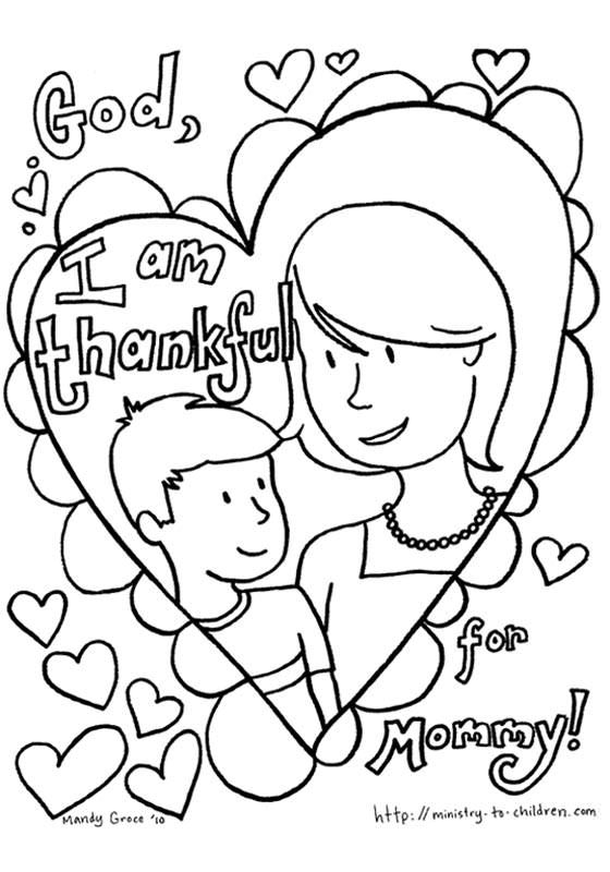 i am thankful coloring pages - photo #29
