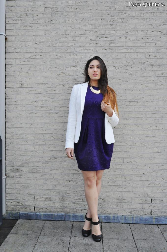 outfit met witte blazer