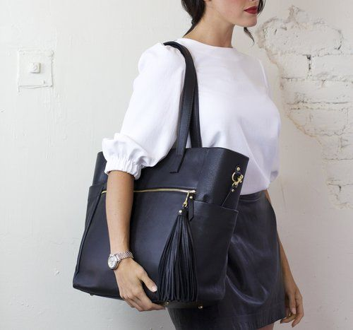 Meet the perfect work bag! This bag is made from soft buttery leather, has a compartment for your shoes and water bottle! (insert emoji with heart eyes) A must have work bag!
