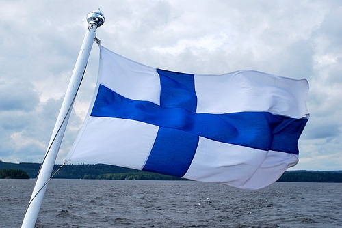 Flying from the stern #Finland #ScanAdventures