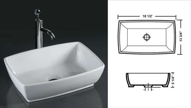 Deep Porcelain Sink : Deep White Porcelain Vessel Sink
