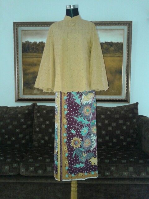 Suit cotyon emboss with handmade hokokai batik
