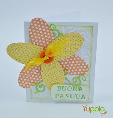 Biglietto di auguri per Pasqua.  http://yupplacraft.it #craftidea #easter #pasqua #auguri #biglietto #handmade