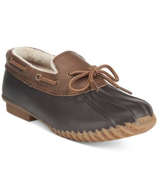 JBU by Jambu Women's Gwen Slip-On Duck Shoes $49.99 Be weather-ready in style with the classic yet feminine design of JBU by Jambu's Gwen duck shoes.
