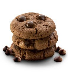 Double Chocolate Chip Cookies - Everyone loves a chocolate cookie. Why not make 2 batches, they are sure to go quickly!