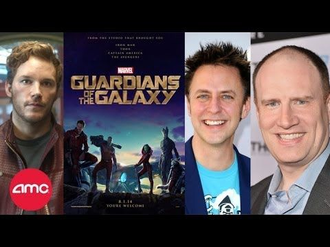 Live GUARDIANS OF THE GALAXY Interview with Chris Pratt, James Gunn and Kevin Feige - AMC Movie News - YouTube
