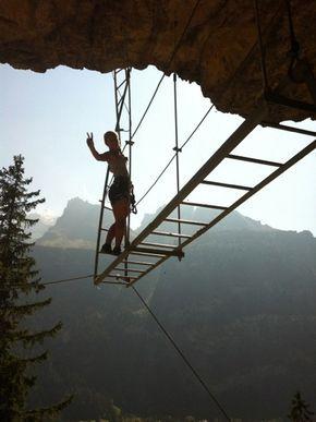 klettersteig.de - Klettersteig-Beschreibung - Klettersteig Kandersteg Allmenalp