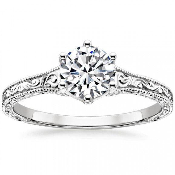 Platin Hudson Ring von Brilliant Earth #Verlobungsringe #Brilliant #Erd …