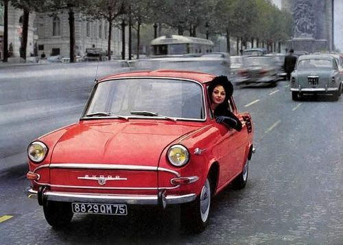 girlsandmachines:  Skoda 1000 MB, 1965.