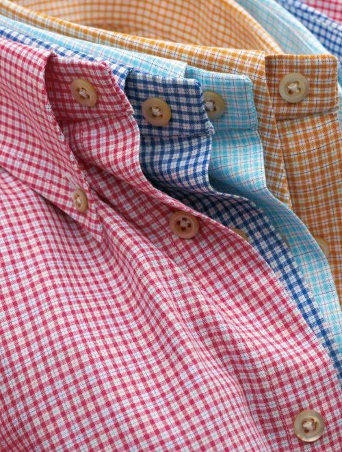 Gingham. Good basic for every man to have. Wear tucked in for business casual or untucked with dark jeans for late dinner date