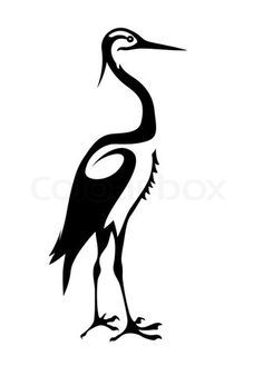 blue heron silhouette - Google Search