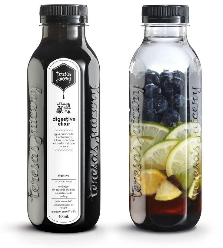 Digestivo - Agua purificada + Lima + Arándanos + Carbón activado + Sirope de arce