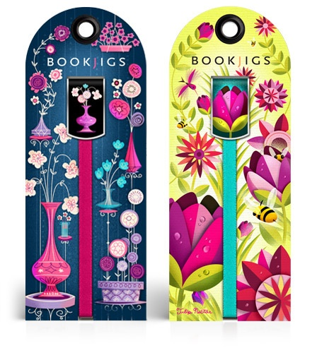Bookjigs floral bookmarks