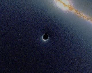 From Wikiwand: Simulation of gravitational lensing by a black hole, which distorts the image of a galaxy in the background