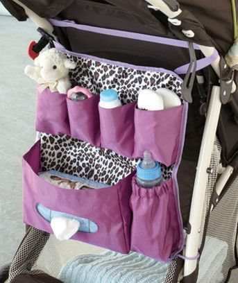 Great way to organize stroller necessities, would be good use for #BAbyville