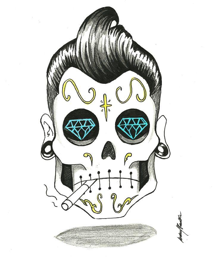 rockabilly arte pinterest rockabilly sugar skulls and tattoo. Black Bedroom Furniture Sets. Home Design Ideas