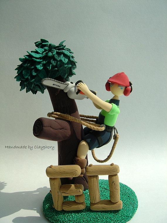 Arborists 60th Birthday Customized Cake Topper