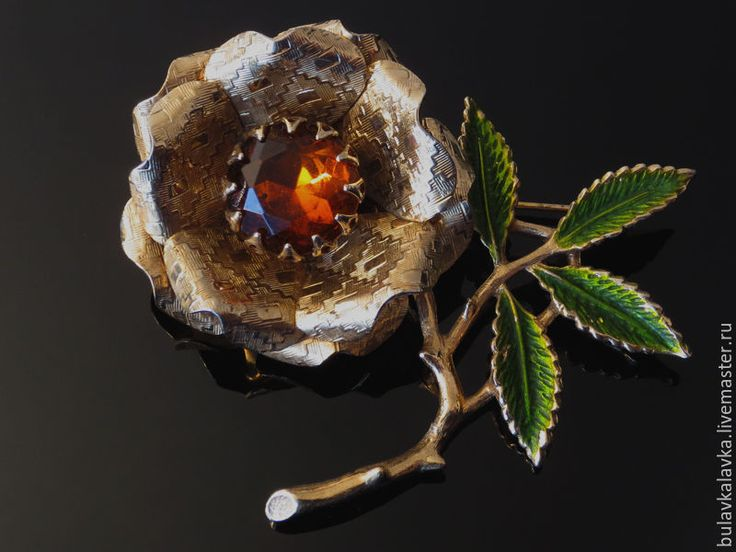 "Купить Sarah Coventry Винтажная брошь ""Ember flower"" - винтажные украшения, винтажная брошь"