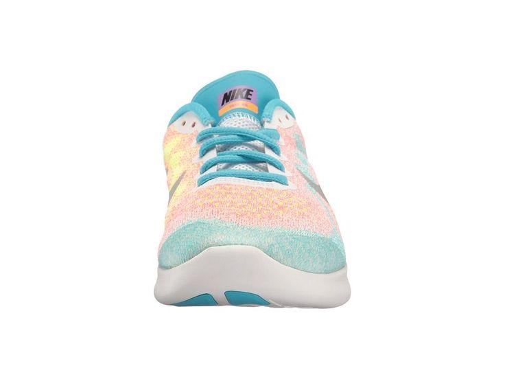 nike shoes for girls blue. Nike Kids Free RN 2017 (Big Kid) Girls Shoes White/Metallic Silver/ For Blue