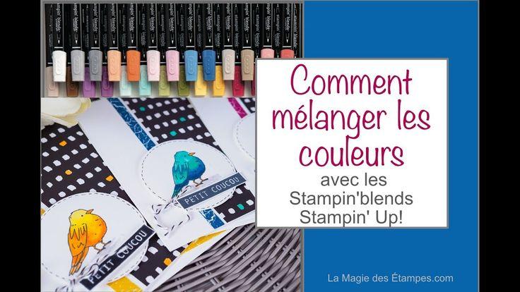 Mélanger les Stampin' Blends ensemble Stampin' Up! #stampinblends #copics #coloriage
