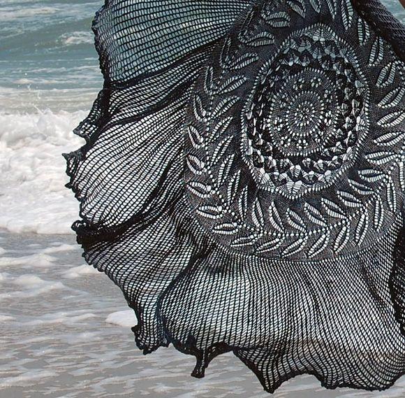wedding ring lace free knitting pattern