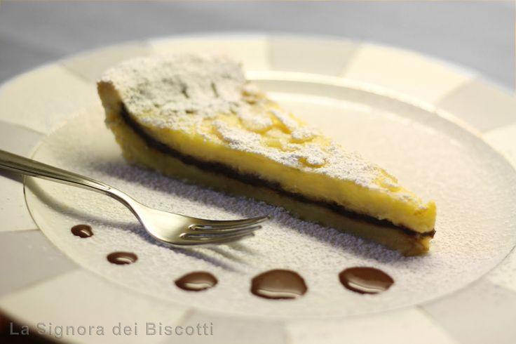 La signora dei biscotti: Crostata alle Mandorle con cuore di Cioccolato
