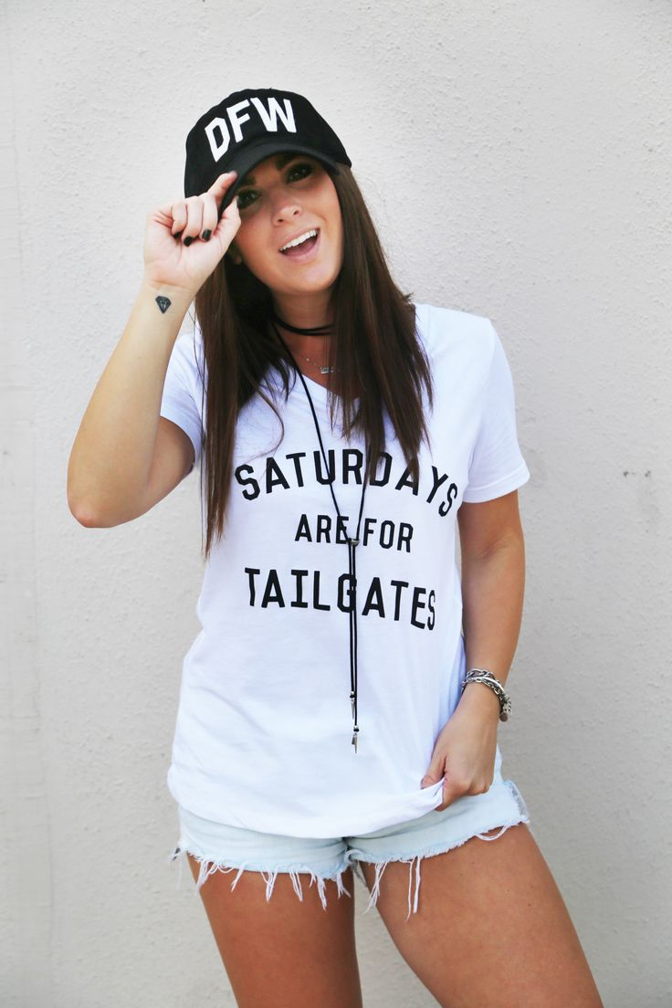 Saturdays Are For Tailgates V-Neck Top - The Rage - 1