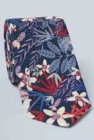 Stanley Floral Tie - Navy