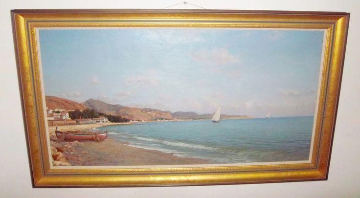 Enrique Florido Bernils (Málaga , 1873 - 1929) La Caleta de Málaga.
