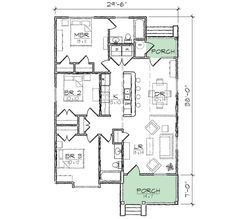 64 best retirement home images on pinterest design floor for Award winning narrow lot house plans