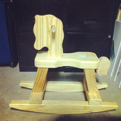 michaels wood rocking horse