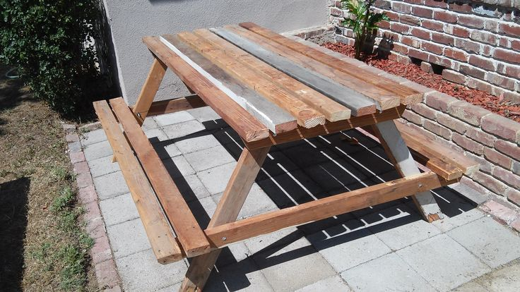 Picnic Table Plans Free 8ft - Downloadable Free Plans