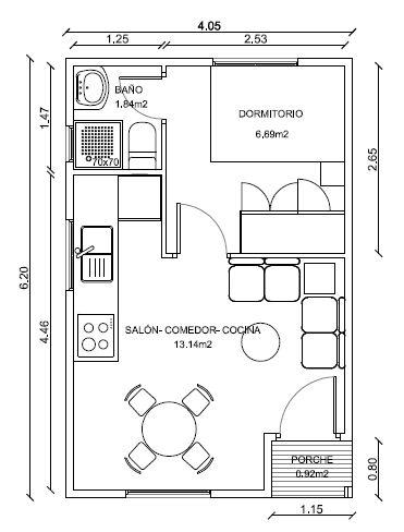 Planos casa de 40m2 buscar con google ideas decoracion for Planos google
