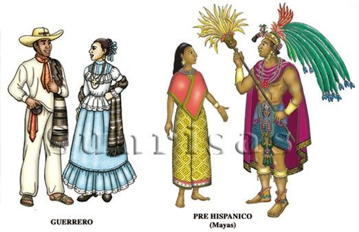 ancient mayan clothing costumes dresses 1