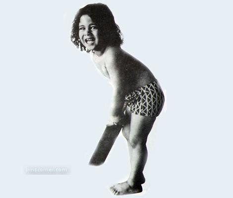 Cute Little Cricketer Sachin Tendulkar image