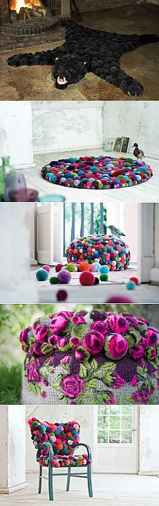 Interior items of pompons