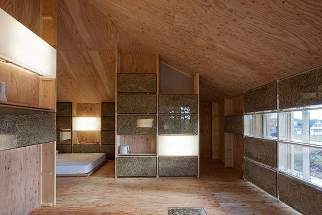 Japanese students design home heated and cooled by fermenting straw : TreeHugger. More on this compost-heating topic beneath main article