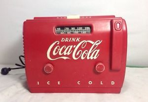 Coca-Cola-Cooler-Radio-1940-1950s-extra-nice-original-Coke-Collectible