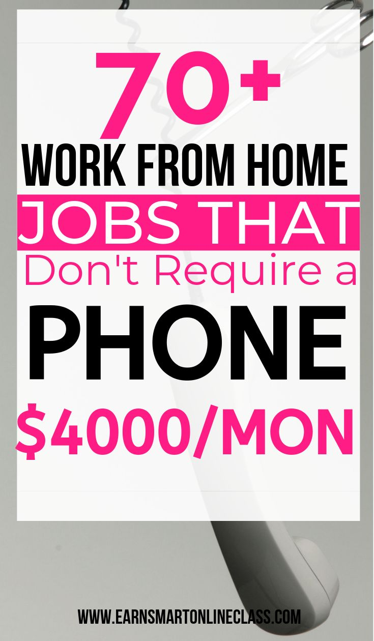 70+ Non-Phone Work From Home Jobs Hiring – Work and Side Hustles From Home