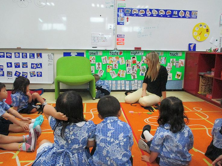 K3 children are learning to demonstrate feelings. In this photo they're demonstrating shy