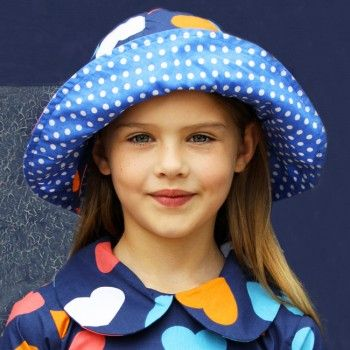 Bridgette Queen of Hearts Hat - Oobi.com.au Our Bridgette Hat in navy Queen of Hearts print is an oversized, wide-brimmed 100% cotton hat designed to offer style and sun protection. Lovely, soft and stylish.