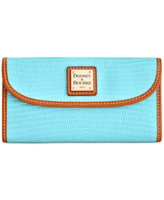 Dooney & Bourke Lizard-Embossed Continental Clutch Wallet, Created for Macy's  $103.60 A great match for any Dooney & Bourke bag, this continental clutch wallet stays expertly organized with multiple card slots and a zip pocket at back.