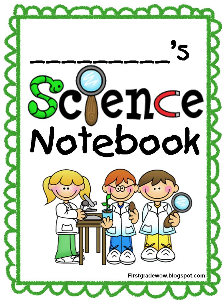 kids science notebook start-up pack-8 page free printable- last year I took pictures of kids in lab coats and googles for their science journal- but I really like this too!